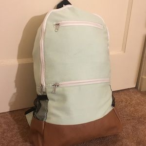 Pastel Turquoise Fabric Backpack